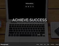 Manjareal - Responsive Creative One Page Theme