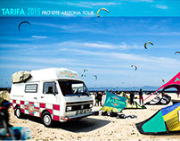 Photomontage for kite surf event
