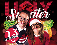 Ugly Sweater Flyer & Facebook Cover