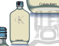 Illustration vectorielle, CK One de Calvin Klein