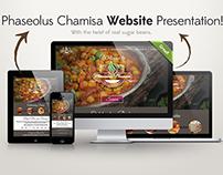 Phaseolus Chamisa Website Mockup