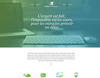home page web agence