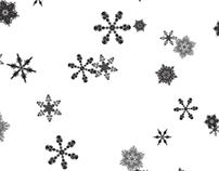 p5.js Typographic Snowfall
