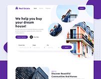 Real Estate - Landing Page Concept