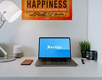 Macbook Pro Mockup Free PSD
