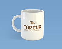 Coffee Shop logo (Top Cup)