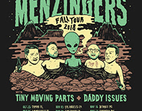 The Menzingers 2018 Fall Tour poster