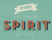 John 6:63 Typography