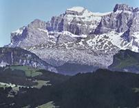 Mountains, 50 x 50 cm, oil on canvas