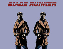 Blade Runner Comic (in the style of Mike Mignola)