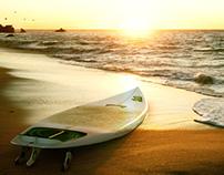 3D Lost Surfboard