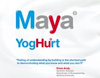 Website for Art Project - Maya YogHurt