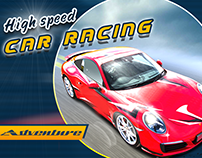 High Speed Adventure Car racing Game UI/UX