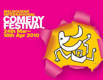 Melbourne International Comedy Festival branding