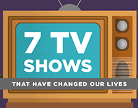 7 TV Shows infographic