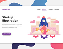 Startup Vector Free Illustration