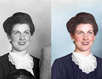 Photo restoration of my Grandmother