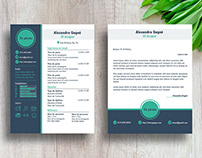 Free Modern Resume Template With Cover Letter