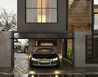 Black night villa