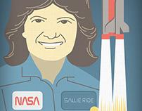 Sally Ride Portrait
