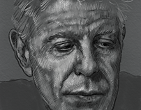 Anthony bourdain sketch