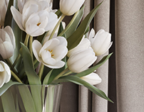 3d model of tulips