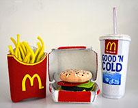Felt McDonald's Meal