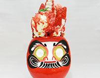 strawberry parfait daruma/いちごパフェだるま