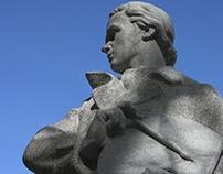 Sevcsenkó a festő/ Young T. Shevchenko, granite, 2009