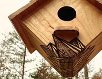 Pyrography Birdhouse