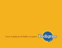 Gráfica Pedigree: Loco es quien no le habla a su perro