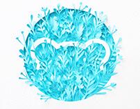 SugarBearHair Logo | Paper art