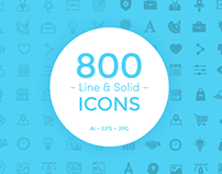 800 Line & Solid Icons