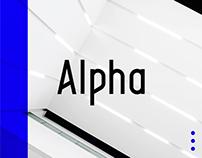 Alpha Typeface   4 Styles!