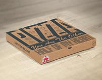 Papa Johns Pizza Box