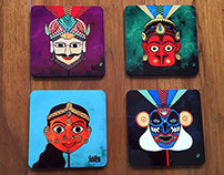 The Indian Masquerade Series - art & Products