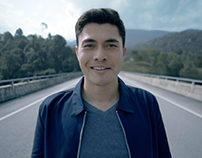 Simple ad for inflight with Henry Golding