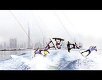 Wakeboard shoot for UAE SEARIDERS