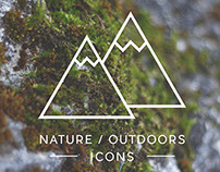 Icon set - nature / outdoors