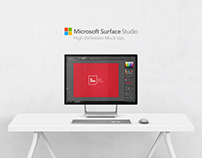 Free Microsoft Surface Studio PC Mock-Ups v2