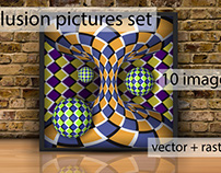 Illusion pictures set