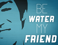 Kinect typography - Be water my friend