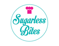 Sugarless Bites branding