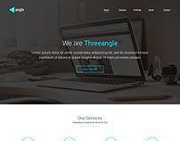 Threeangle - Landing Page Template | Free HTML & PSD