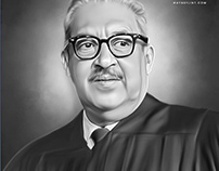 Thurgood Marshall Digital Art by Wayne Flint
