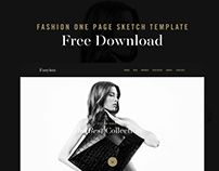 Fashion One Page Sketch Template Free Download