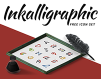 Free Inkalligraphic Vector Icon Set