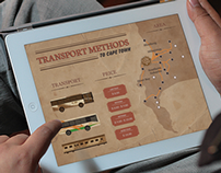 Interactive transportation infographic