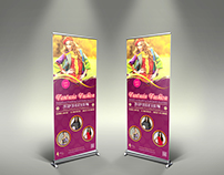Fashion Party Show Signage Rollup Template