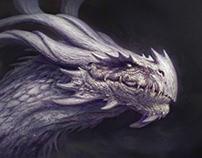 Wise dragon head